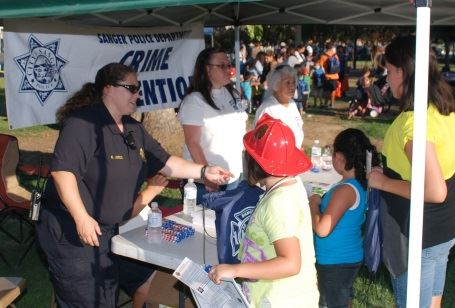 Staff at a Crime Prevention booth 1