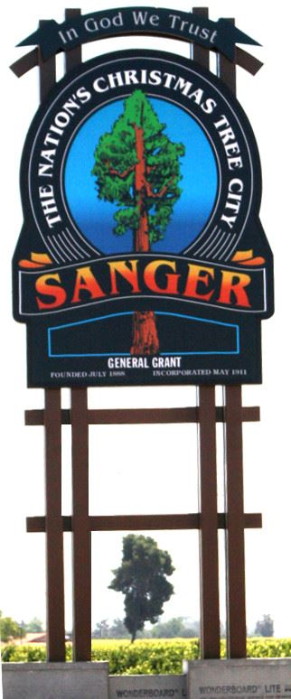 Sanger 180 Monument Sign